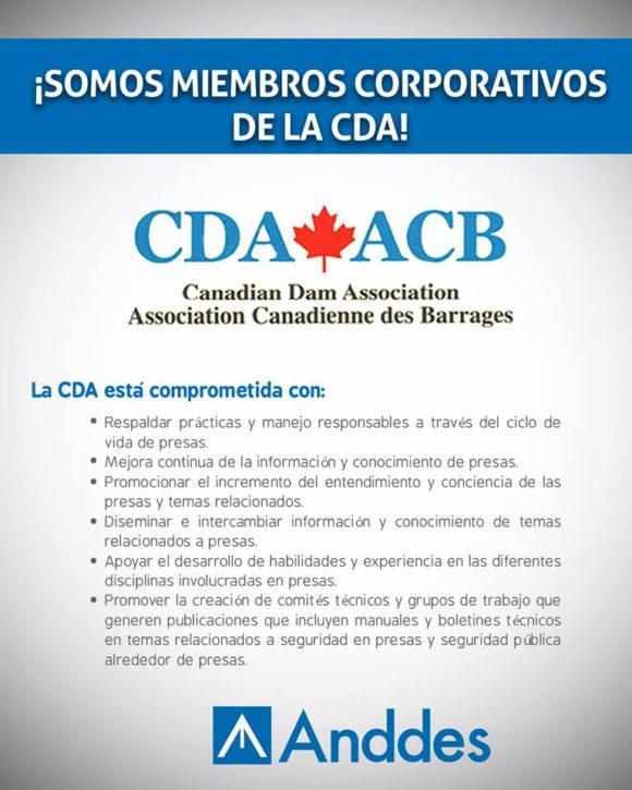 ANDDES COMO MIEMBRO CORPORATIVO DE LA CDA