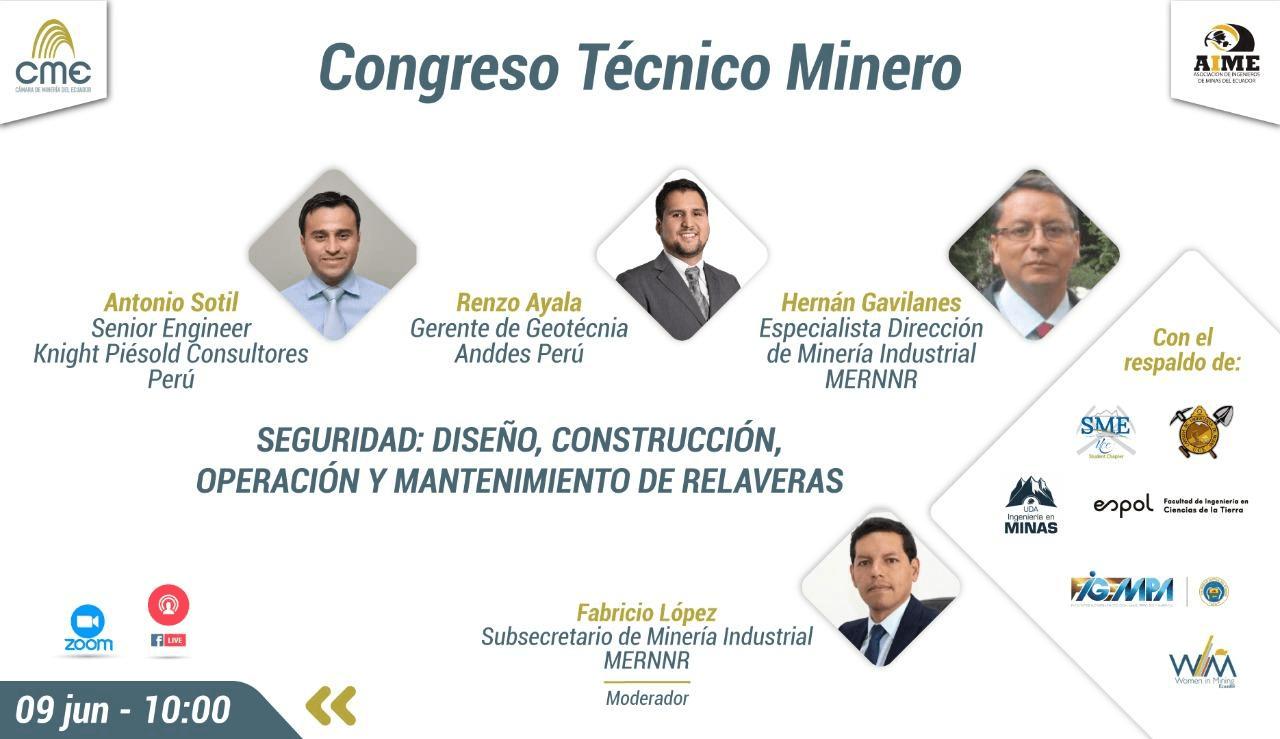 """CONVERSATORIO """"SEGURIDAD: DISEÑO, CONSTRUCCIÓN, OPERACIÓN Y MANTENIMIENTO DE RELAVERAS"""""""