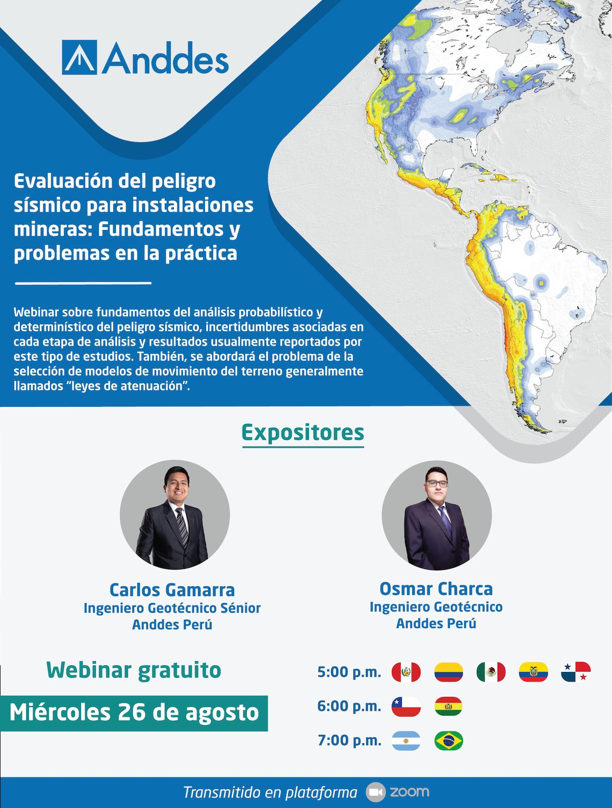 Evaluación del peligro sísmico para instalaciones mineras: Fundamentos y problemas en la práctica