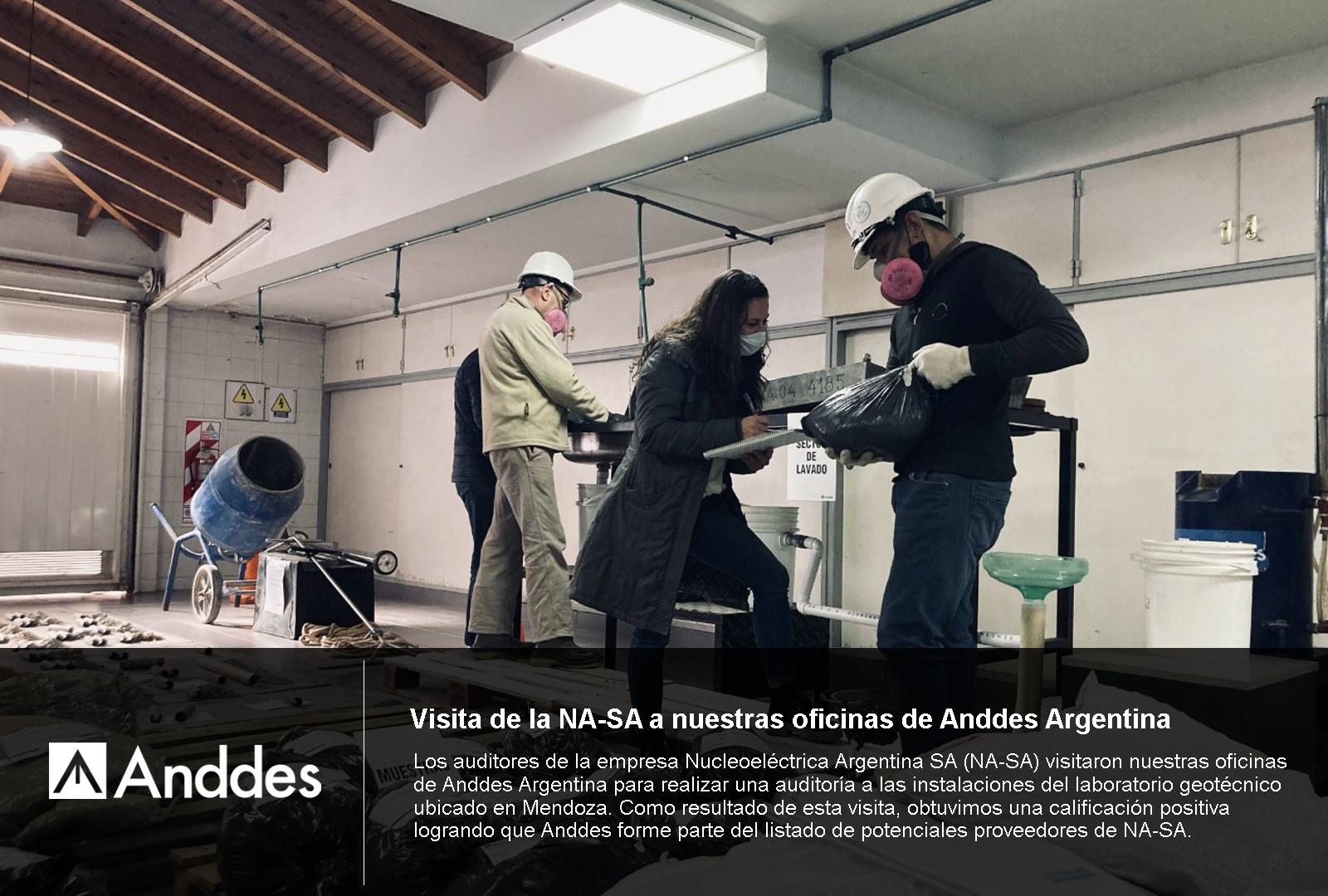Visita de la NA-SA a nuestras oficinas de Anddes Argentina